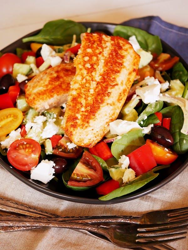 Air Fryer Salmon with Greek Salad P Air Fryer