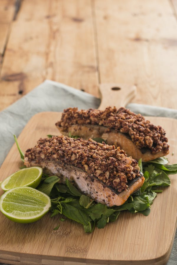 Almond Crusted Crio Bru Salmon