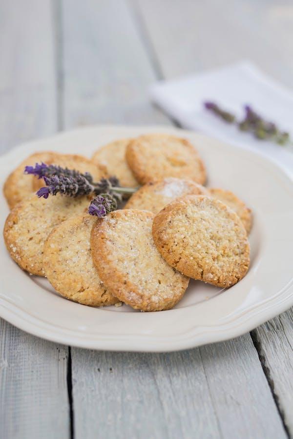 Almond Lavender Shortbread