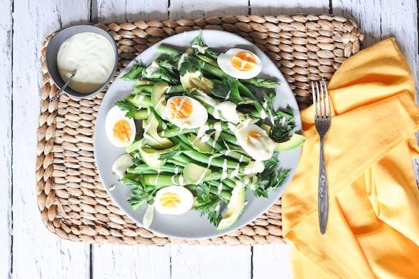 Asparagus Green Bean And Avo Salad