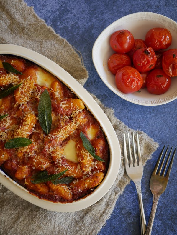 Baked Pumpkin Gnocchi with Sage OH P