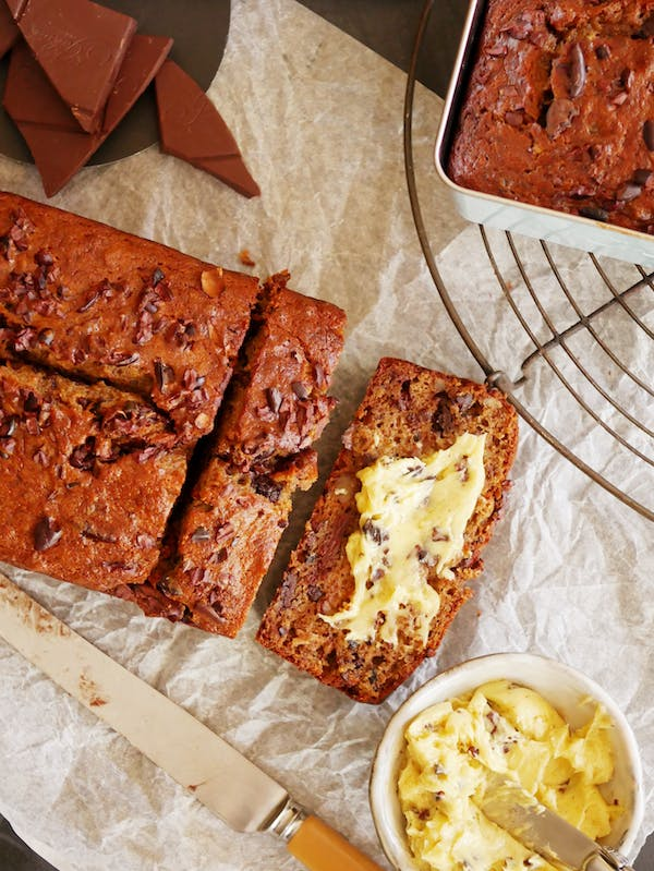 Banana Bread with Cacao Nibs