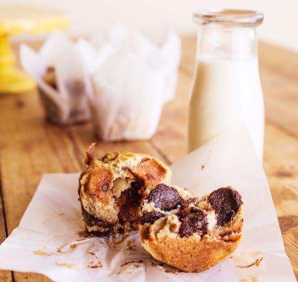 Banana Chocolate Muffins Fotor