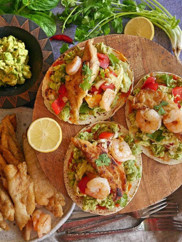Barramundi and Prawn Tacos OH P THERMOMIX