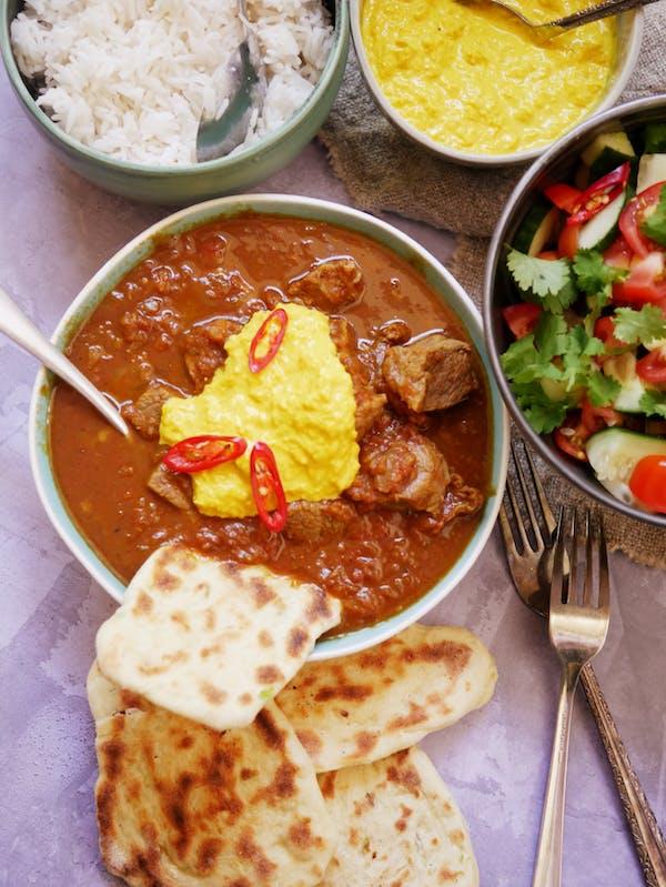Beef Vindaloo P Fotor