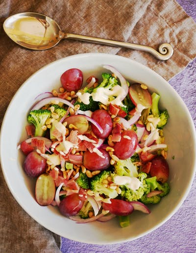 Grape and Broccoli Salad