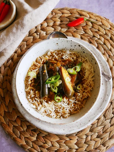 Burmese Eggplant Curry