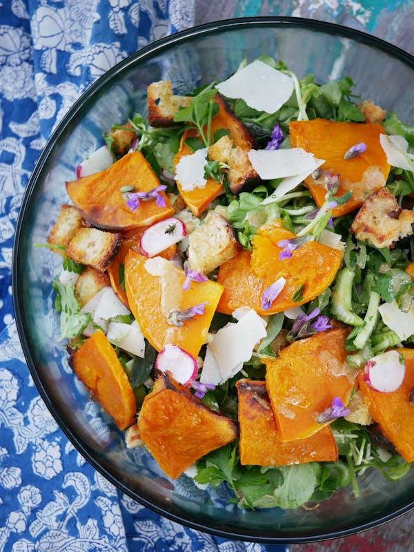 Butternut Panzanella Salad OH P TENINA