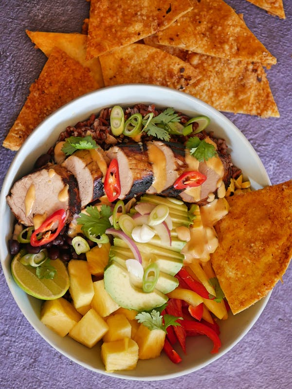 Caribbean Pork Nourish Bowl P TENINA
