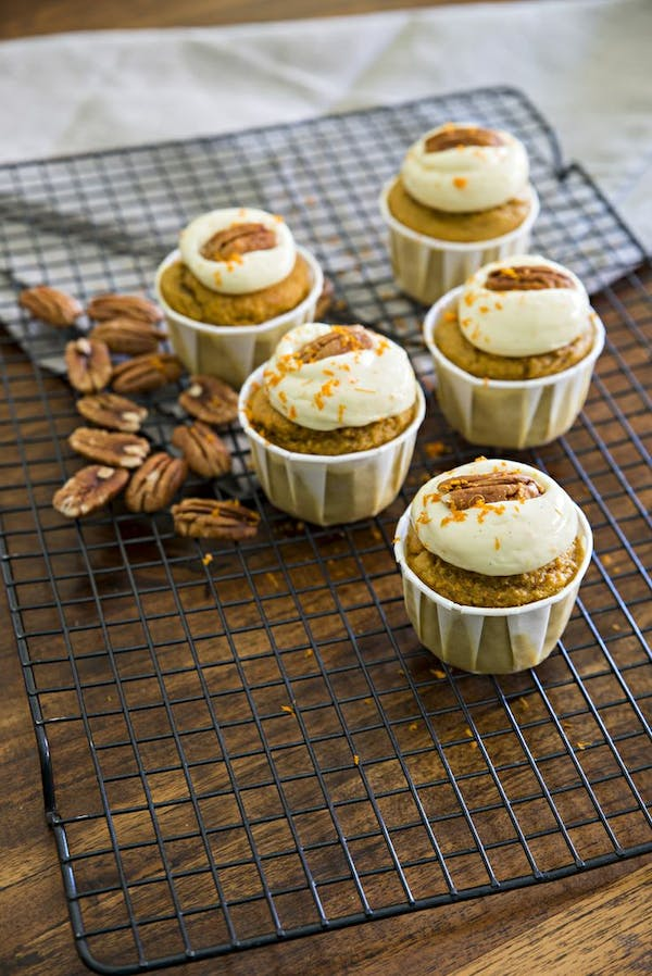 Carrot Orange and Pecan Muffins