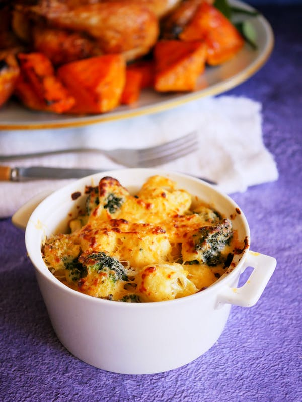 Cauliflower and Brocolli Gratin Air Fryer