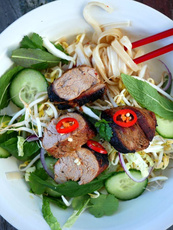 Char Siu Pork with Noodle Salad OH P Thermomix
