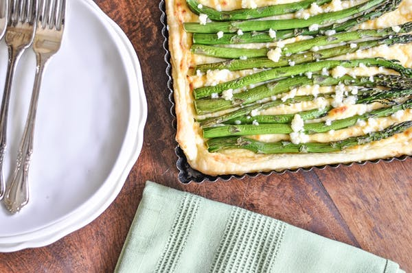Cheesy Asparagus Tart With Iced Puff Pastry Fotor