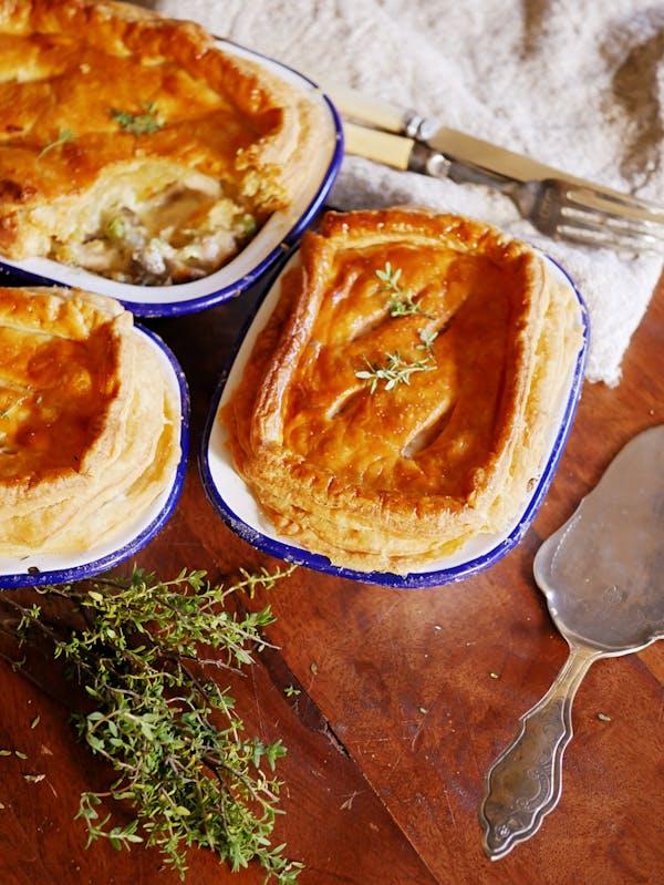 Chicken Mushroom Leek Pies P Thermomix