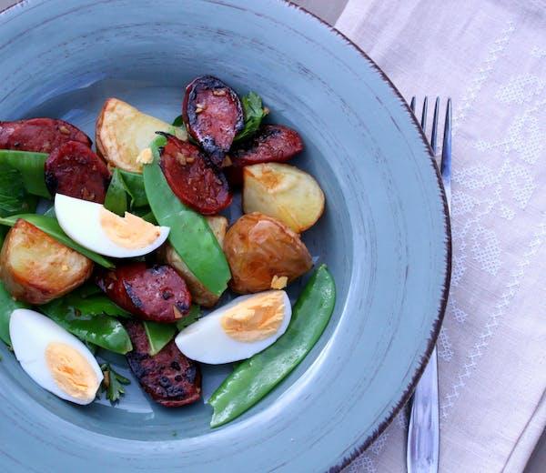 Chorizo Egg and Roasted Potato Salad