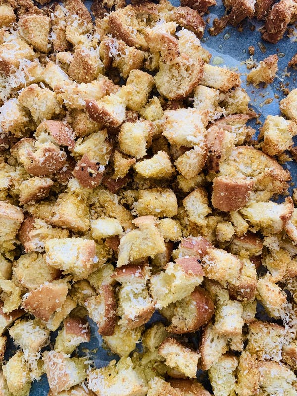 Crunchy Cheesey Croutons P
