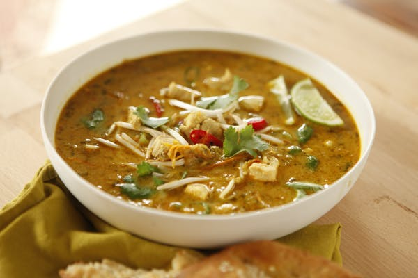 Curry and Coconut Chicken Soup