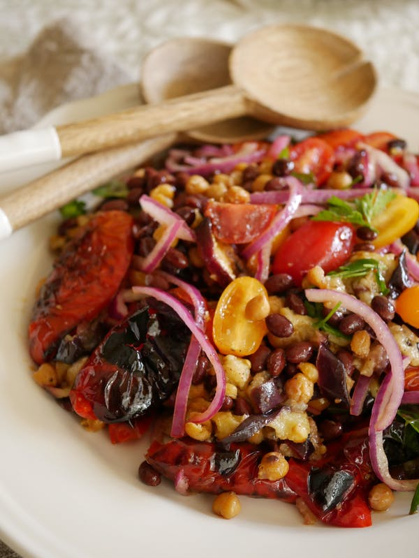 Eggplant and Bean Salad P