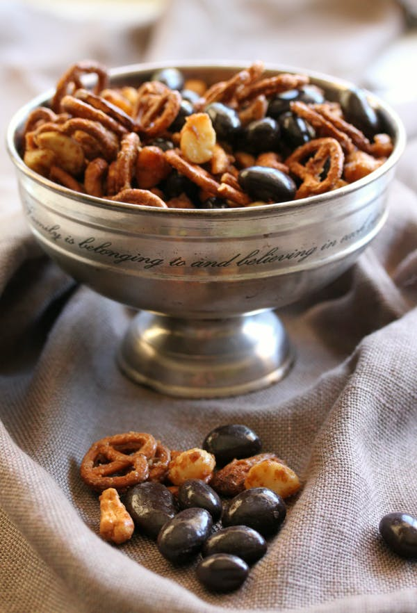 Festive Nut Chocolate Pretzel Mix