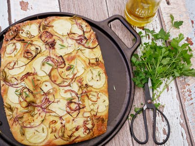 Potato & Red Onion Focaccia