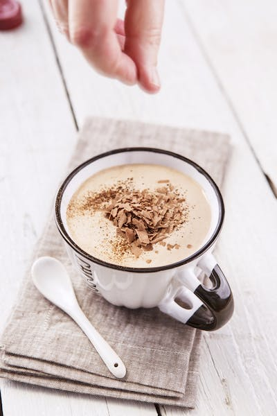 Frothy Coconut Chocolate Punch
