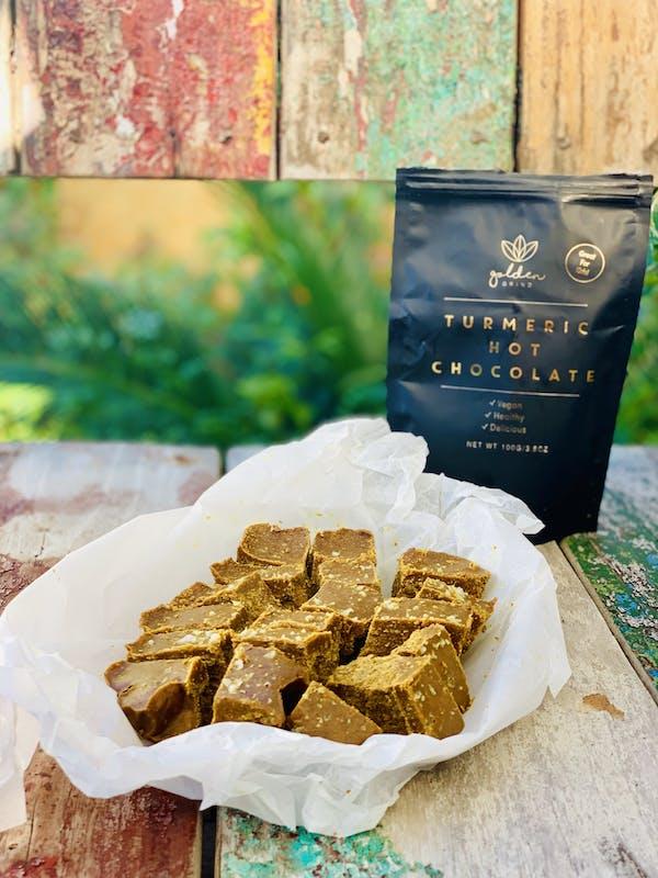 Golden Turmeric Cashew Fudge P ip