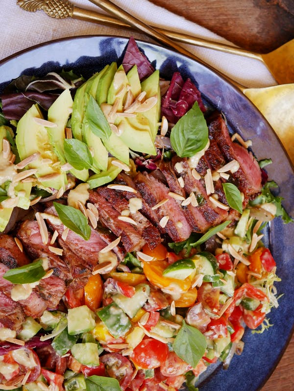 Grilled Steak Salad with Avocado 1 P TENINA