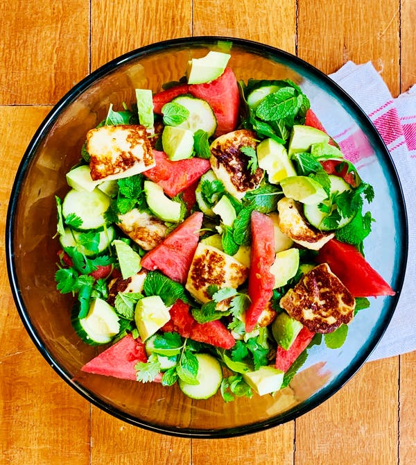 Haloumi Watermelon Salad