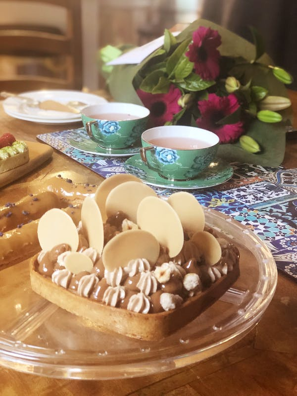 Hazelnut Sable Tart With Coffee Ganache Fotor