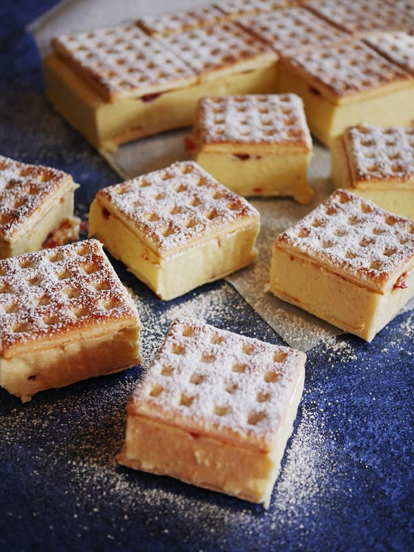 Lattice Cheesecake Slice with jam P1 Thermomix