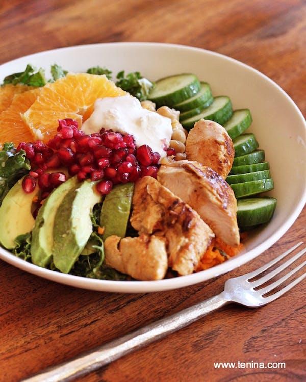 Lemon Chicken And Kale Salad Fotor