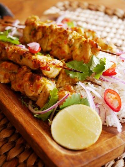 Lemongrass Chicken Kebabs