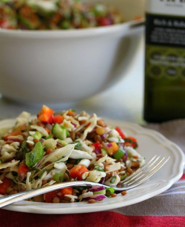 Lentil Salad with Basil and Lemon