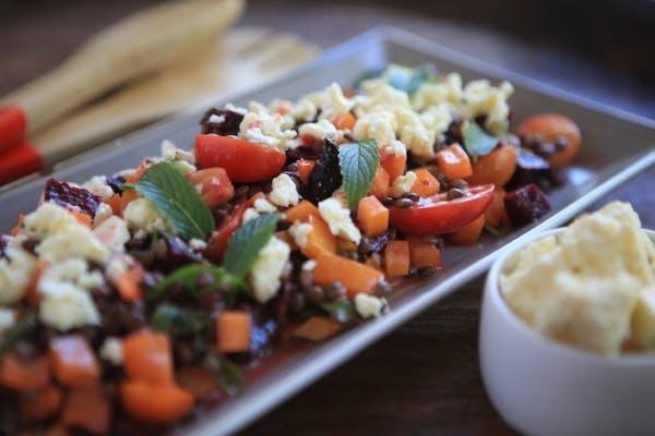 Lentil Salad With Mint And Feta
