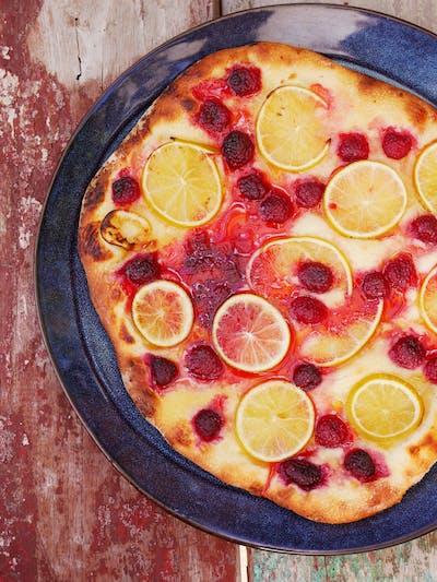 Dessert Pizzas; Lime Raspberry