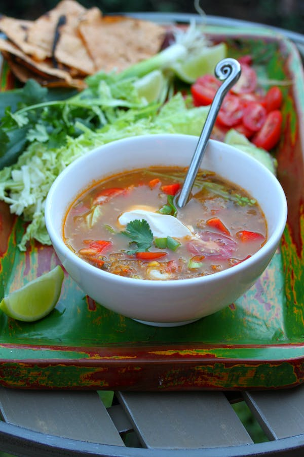 Mexican Chicken and Lime Soup
