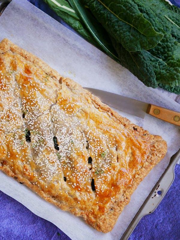 Mushroom Kale Pie with Spelt Puff Pastry P TENINA