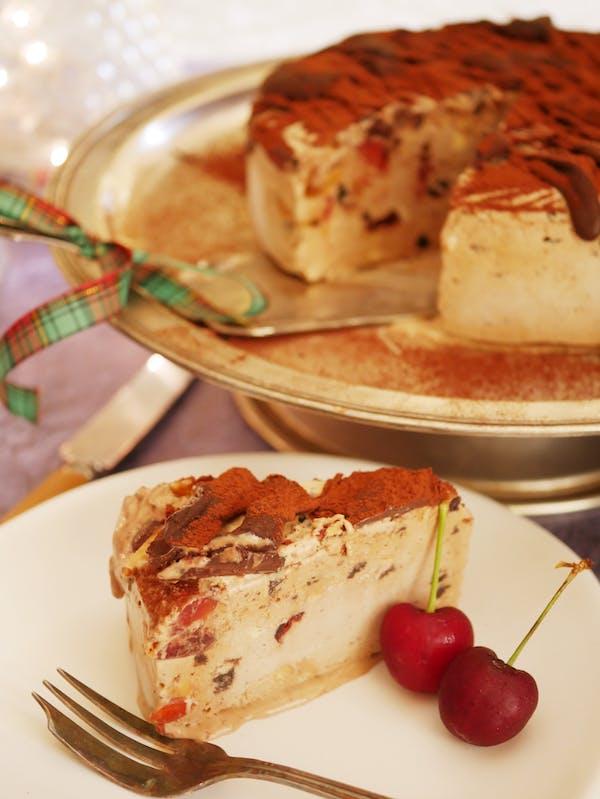 Panforte Ice Cream Torte slice out 1 P Fotor