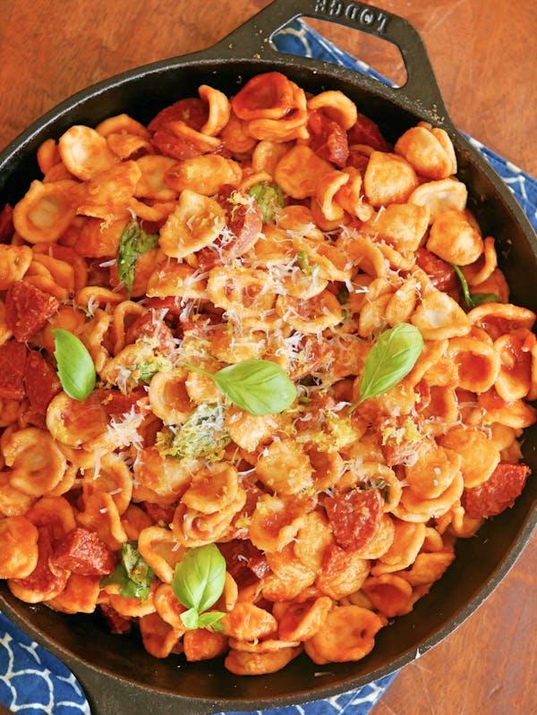 Pepperoni Pasta with Lemon OH P TENINA