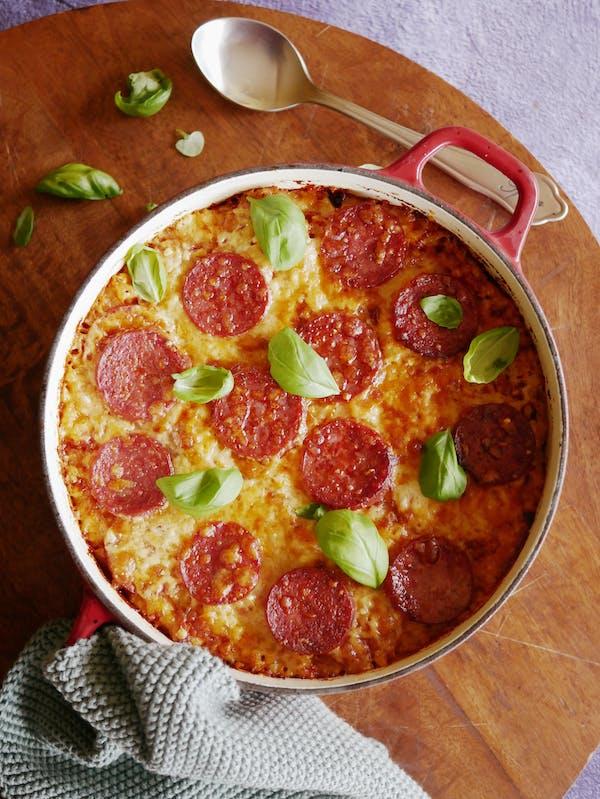 Pepperoni Pizza Mac N Cheese OH P TENINA