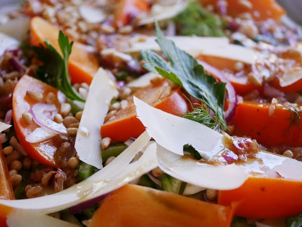 Persimmon Fennel Salad LS CU Thermomix