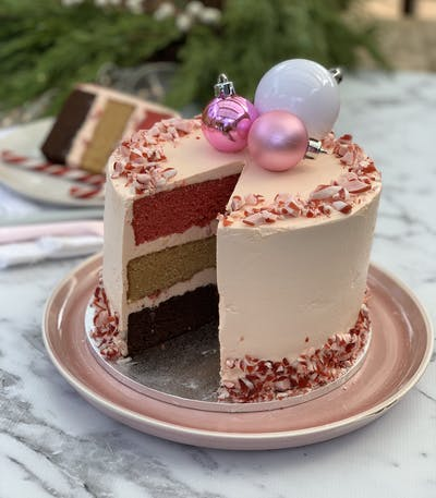 Peppermint Ermine Frosting and Assembling of Cake