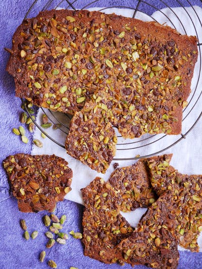Chocolate and Pistachio Thins
