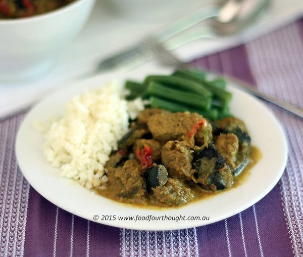 Pork-eggplant-curry