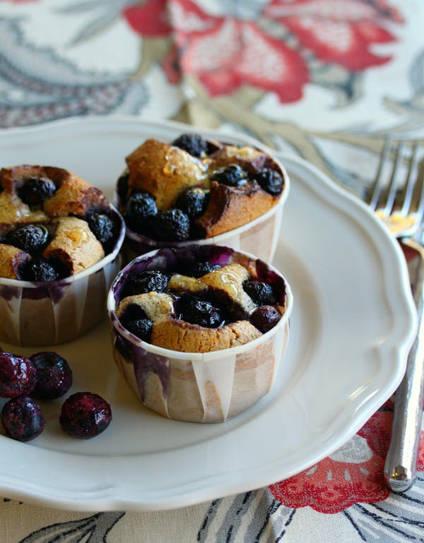 Quinoa Almond Blueberry Friands Portrait