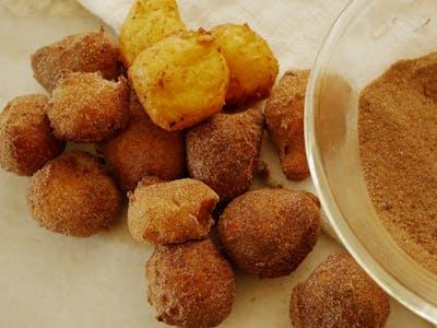 Ricotta Doughnuts with Spiced Sugar