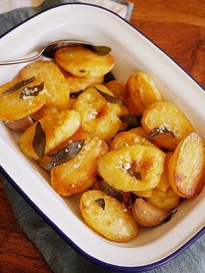 Crunchy Roast Potatoes with Sage