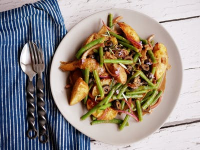 Roast Potato And Steamed Bean Salad