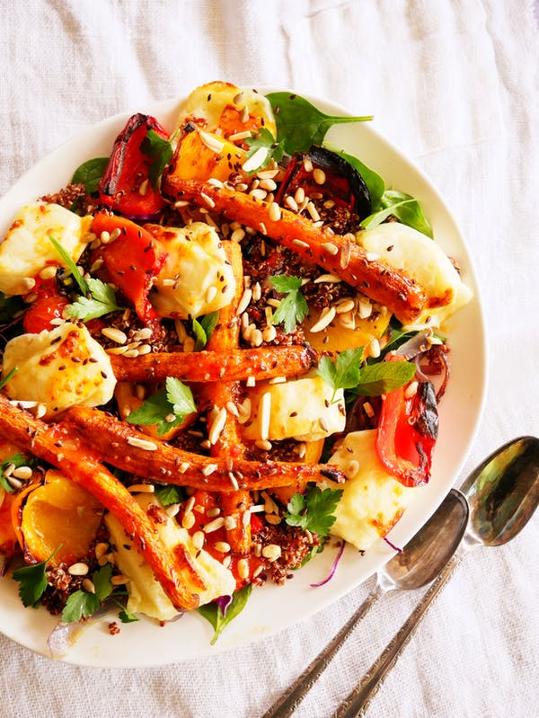 Roasted Carrot and Haloumi Salad P Air Fryer