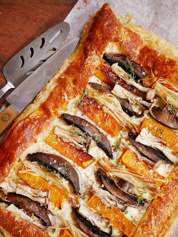 Roasted Pumpkin and Mushroom Tart P TENINA